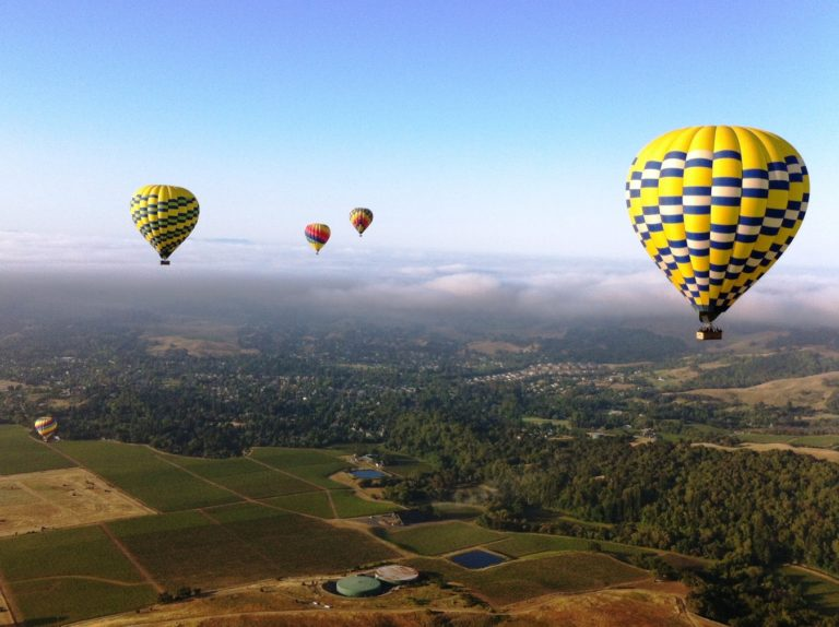 Watch Hot Air Balloons From Napa Homes for Sale