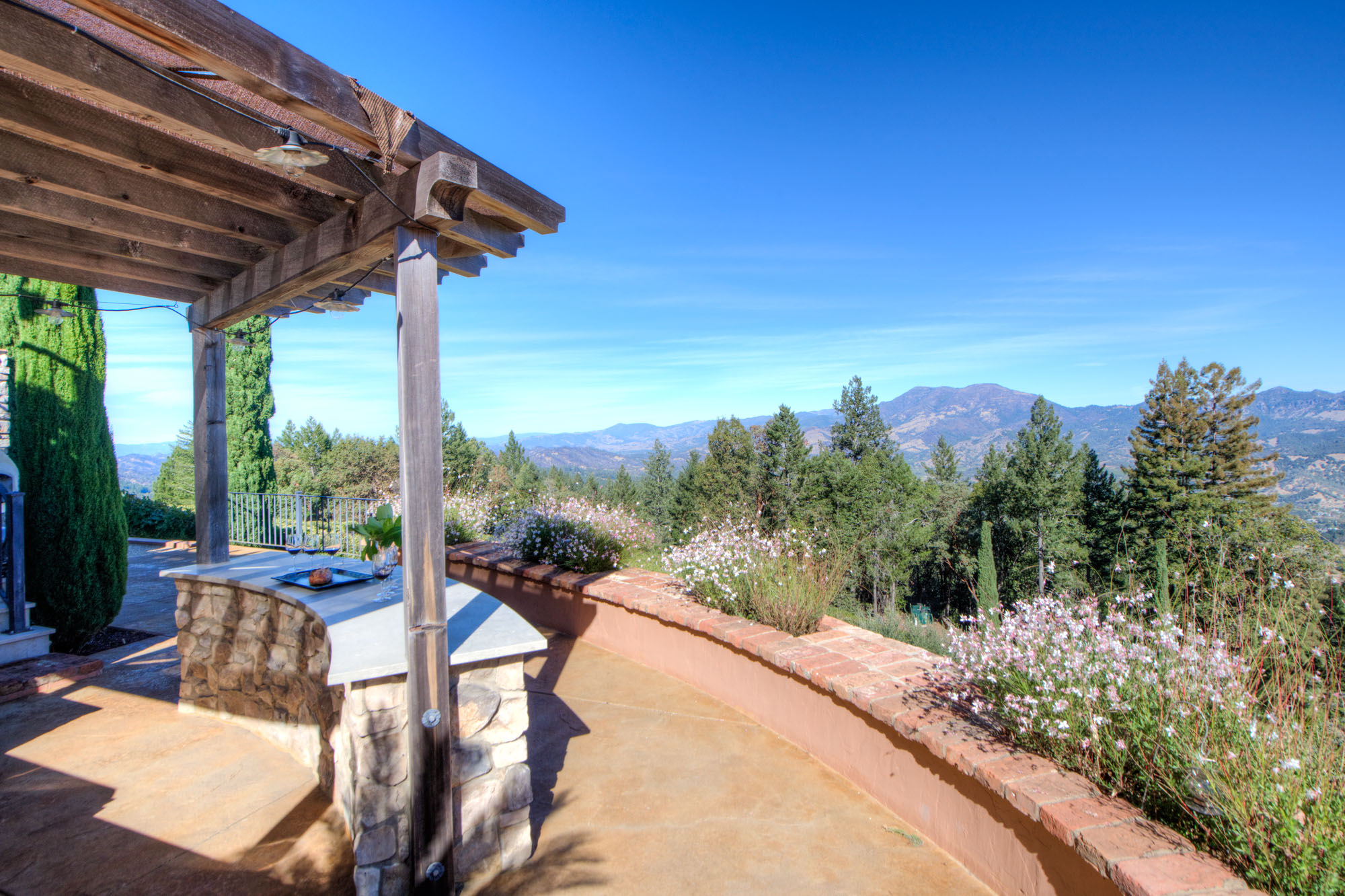 Backyard mountain view