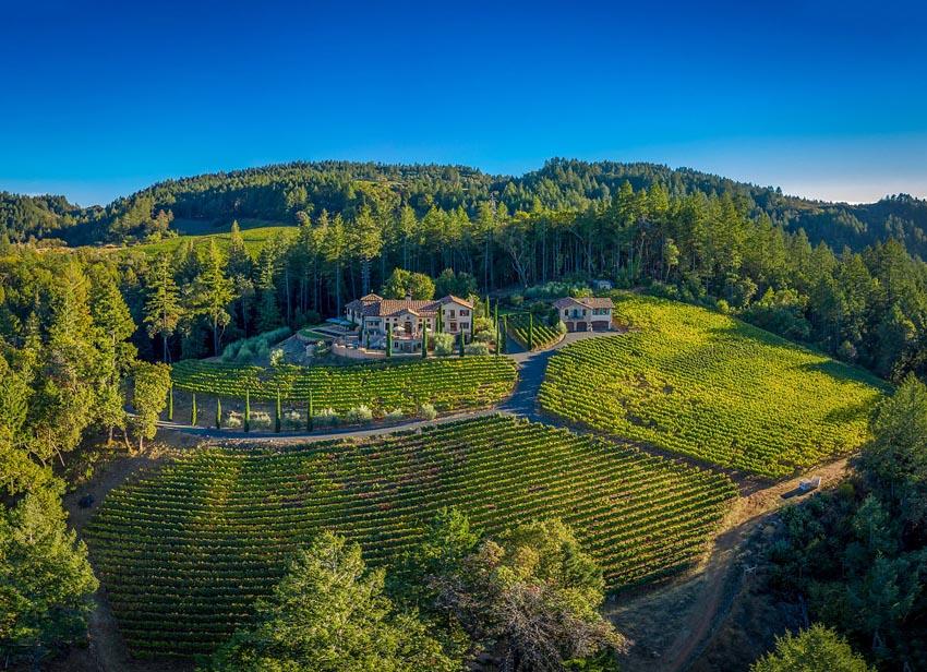 2110 Diamond Mountain Road Panoramic of estate