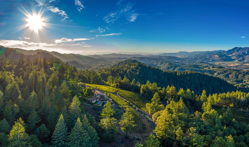 Views of Sonoma coastal range